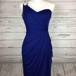 Blue Cache Cocktail Party Dress